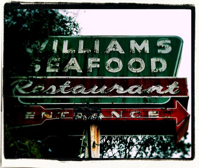 Williams Seafood Sign Savannah Vanishing Coastal Georgia