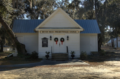 Bryan Neck GA Bryan County Presbyterian Church Historic Vernacular Architecture Cross Layout Picture Image Photo © Brian Brown Vanishing Coastal Georgia USA 2013
