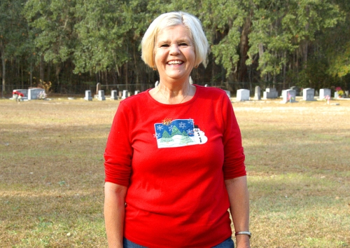 Brenda McIntosh White Rogers Keeper of McIntosh Family Cemetery Picture Image Photo © Brian Brown Vanishing South Georgia USA 2012