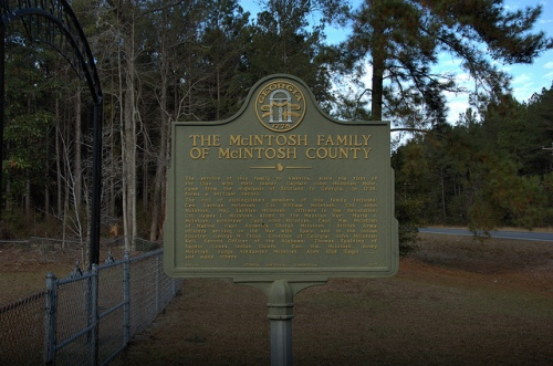 McIntosh Family of McIntosh County Historic Marker Cemetery Picture Image Photo © Brian Brown Vanishing Coastal Georgia USA 2012