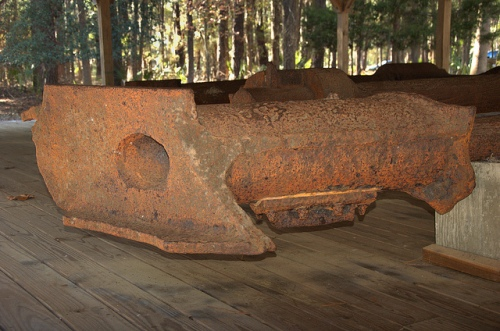 Fort McAllister GA Bryan County Civil War Confederate Ship Nashville Rattlesnake Recovered Rotary Engine Part Picture Image Photo © Brian Brown Vanishing Coastal Georgia USA 2013