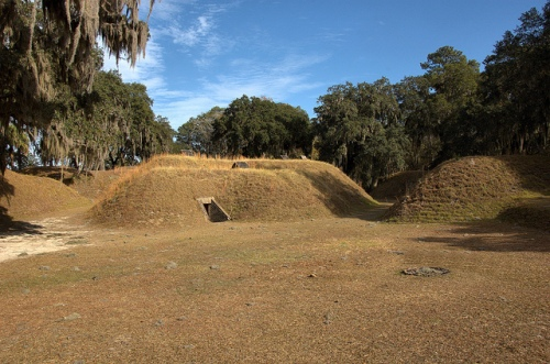 Fort McAllister GA Bryan County Civil War Naval Fortification March to the Sea Earthen Defense Picture Image Photo © Brian Brown Vanishing Coastal Georgia USA 2013
