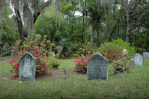 Behavior Cemetery Sapelo Island GA Homemade Headstones National Register Landmark African-American Folklife Picture Image