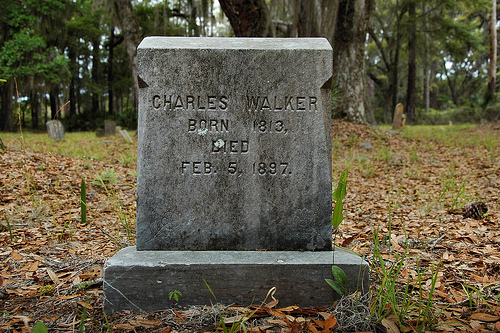 Charles Walker Ex Slave Headstone Behavior Cemetery Sapelo Island GA Picture Image Photograph © Brian Brown Vanishing Coastal Georgia USA 2013