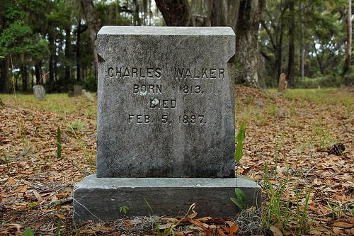 Charles Walker Ex Slave Headstone Behavior Cemetery Sapelo Island GA Picture Image Photograph © Brian Brown Vanishing Coastal Georgia USA 2013