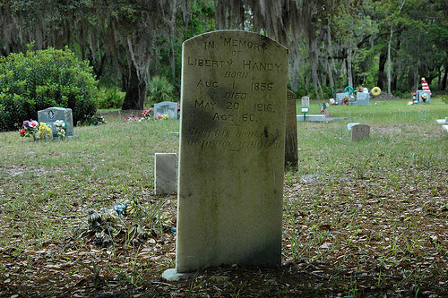 Liberty Handy Behavior Cemetery Sapelo Island GA Picture Image Photograph © Brian Brown Vanishing Coastal Georgia USA 2013