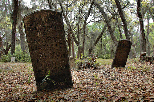Mary Wright Headstone Behavior Cemetery Sapelo Island GA Picture Image Photograph © Brian Brown Vanishing Coastal Georgia USA 2013