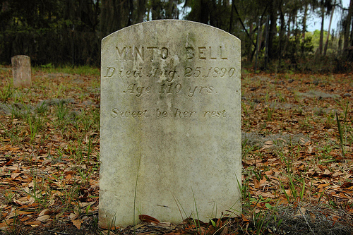 Minto Bell Bilali Mohamet Muhammed Daughter Headstone Behavior Cemetery Sapelo Island GA Picture Image Photograph © Brian Brown Vanishing Coastal Georgia USA 2013