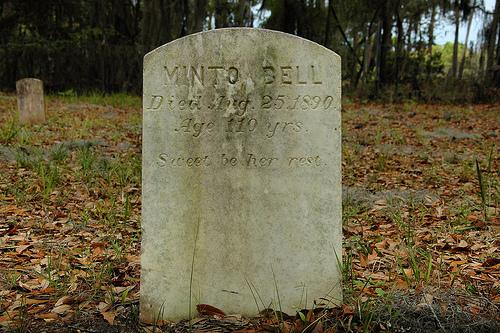 Minto Bell Bilali Mohamet Muhammed Daughter Headstone Behavior Cemetery Sapelo Island GA Picture Image Photograph © Brian Brown Vanishing Coastal Georgia USA 2013