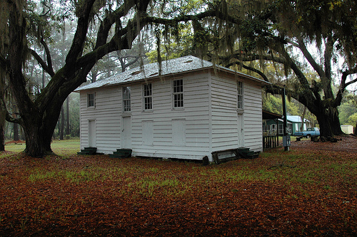 Sapelo Island Farmers Association Building Vernacular Architecture Landmark Picture Image Photograph © Brian Brown Vanishing Coastal Georgia USA 2013