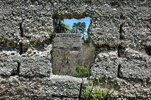 Sapelo Island GA Chocolate Plantation Ruins Tabby Thomas Spalding Picture Image Photograph © Brian Brown Vanishing Coastal Georgia USA 2013