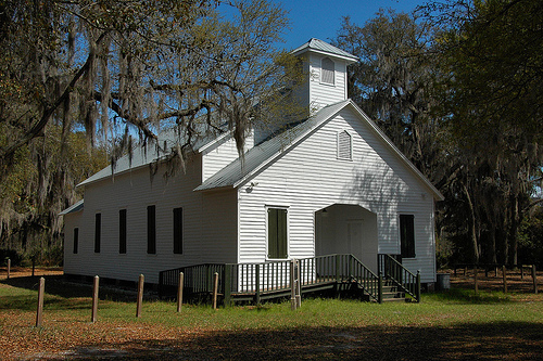 Sapelo Island GA First African Baptist Church at Raccoon Bluff National Register Landmark Picture Image Photograph © Brian Brown Vanishing Coastal Georgia USA 2013