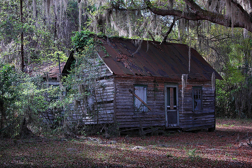 Sapelo Island GA Hog Hammock Community Abandoned Vernacular House Picture Image Photograph © Brian Brown Vanishing Coastal Georgia USA 2013