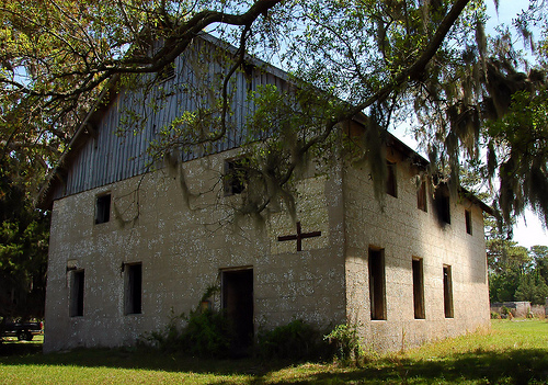 Sapelo Island GA Tabby Barn Built by Thomas Spalding 1837 Restored by Howard Coffin 1926 Chocolate Plantation McIntosh County Picture Image Photograph © Brian Brown Vanishing Coastal Georgia USA 2013