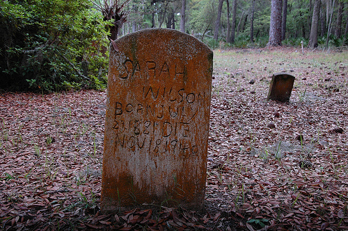 Sarah Wilson Headston Behavior Cemetery Sapelo Island GA Picture Image Photograph © Brian Brown Vanishing Coastal Georgia USA 2013