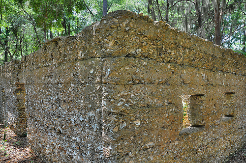 Ruins of Willam Carnochan Sugar Mill and Rum Distillery Tolomato Island Carnigan GA Tabby Architecture Built by Slaves Corner Wall Picture Image Photgraph Copyright Brian Brown Vanishing Coastal Georgia USA 2013
