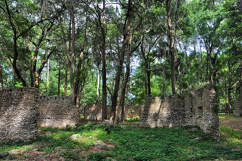 Ruins of Willam Carnochan Sugar Mill and Rum Distillery Tolomato Island Carnigan GA Tabby Architecture Built by Slaves Landmark Picture Image Photograph © Brian Brown Vanishing Coastal Georgia USA 2013