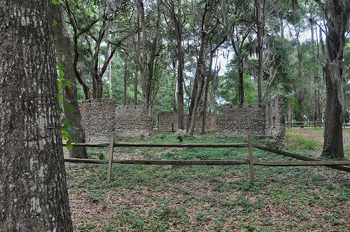 Ruins of Willam Carnochan Sugar Mill and Rum Distillery Tolomato Island Carnigan GA Tabby Architecture Built by Slaves Protected Area Picture Image Photograph © Brian Brown Vanishing Coastal Georgia USA 2013