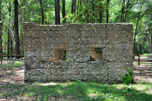 Ruins of Willam Carnochan Sugar Mill and Rum Distillery Tolomato Island Carnigan GA Tabby Walls Forgotten Landmark Picture Image Photograph © Brian Brown Vanishing Coastal Georgia USA 2013