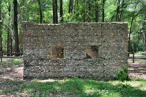 Ruins of Willam Carnochan Sugar Mill and Rum Distillery Tolomato Island Carnigan GA Tabby Walls Forgotten Landmark Picture Image Photograph © Brian Brown Vanishing Coastal Georgia USA 2013