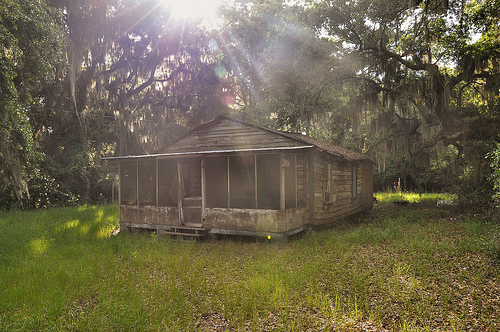 Abandoned Vernacular House Hog Hammock GA Sapelo Island Picture Image Photograph © Brian Brown Vanishing Coastal Georgia USA 2013