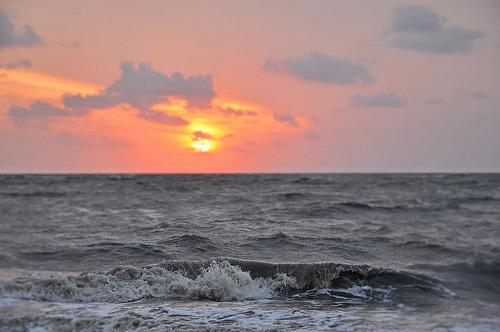 Jekyll Island GA Atlantic Ocean Beach Barrier Island Sunrise after Coastal Storm Picture Image Photograph Copyright © Brian Brown Vanishing Coastal Georgia USA 2013