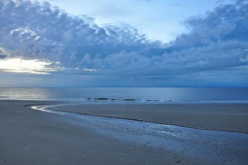 Jekyll Island GA Atlantic Ocean Coast Shore Early Morning Light Tidal Pool Picture Image Photograph Copyright © Brian Brown Vanishing South Georgia USA 2013