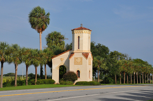 Jekyll Island GA Entrance Tower Spanish Mission Revival Architecture Landmark Picture Image Photograph Copyright © Brian Brown Vanishing Coastal Georgia USA 2013