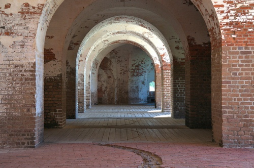 Fort Pulaski National Monument Cockspur Island GA Savannah Area Antebellum Arches Third System Fortress Picture Image Photograph Copyright © Brian Brown Vanishing Coastal Georgia USA 2013