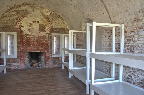 Fort Pulaski National Monument Cockspur Island GA Savannah Area Antebellum Third System Fortress Bunks Quarters Civil War Seige Picture Image Photograph Copyright © Brian Brown Vanishing Coastal Georgia USA 2013