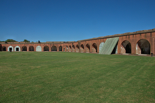 Fort Pulaski National Monument Cockspur Island GA Savannah Area Casemates Arches Parade Picture Image Photograph Copyright © Brian Brown Vanishing Coastal Georgia USA 2013