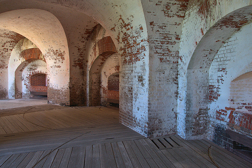 Fort Pulaski National Monument Cockspur Island GA Savannah Area Casemates Arches Picture Image Photograph Copyright © Brian Brown Vanishing Coastal Georgia USA 2013