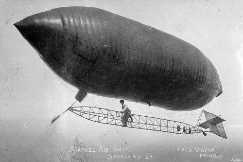 Strobel Air Ship Dirigible Savannah GA Visit Circa 1909 Courtesy of Mike McCall for Vanishing Coastal Georgia USA 2013