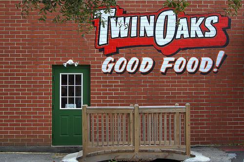 Twin Oaks Drive-In Restaurant Brunswick GA Landmark Photograph Copyright Brian Brown Vanishing Coastal Georgia USA 2013