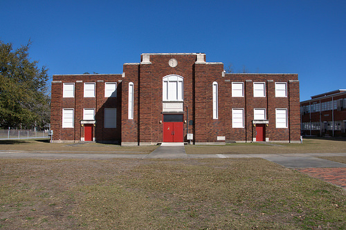 A. V. Wood Gymnasium Glynn Academy High School Brunswick GA Photograph Copyright Brian Brown Vanishing Coastal Georgia USA 2014