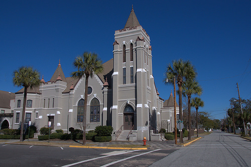 First United Methodist Church Brunswick GA Photograph Copyright Brian Brown Vanishing Coastal Georgia USA 2014