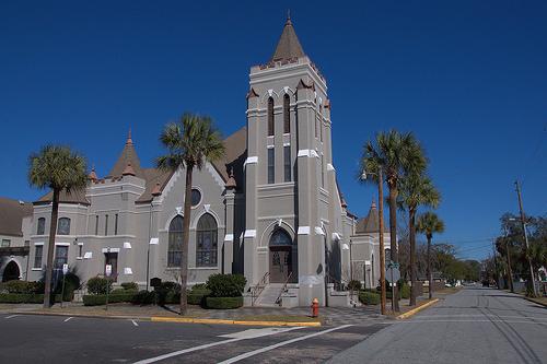 First United Methodist Church Brunswick GA Photograph Copyright Brian Brown Vanishing Coastal Georgia USA 2014