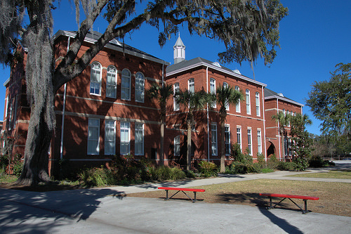 Glynn Academy Annex Building Restored After Lightning Strike Brunswick GA Photograph Copyright Brian Brown Vanishing Coastal Georgia USA 2014