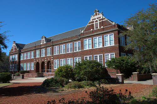 Glynn Academy Building Brunswick GA High School Photograph Copyright Brian Brown Vanishing Coastal Georgia USA 2014