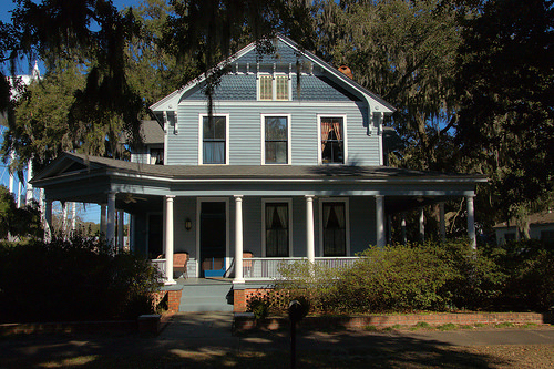 Italianate Architecture Restored House Albany Street Brunswick GA Photograph Copyright Brian Brown Vanishing Coastal Georgia USA 2014