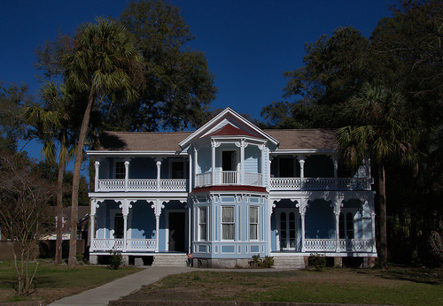 Italianate Carpenter Architecture Restored Historic House Hanover Square Brunswick GA Photograph Copyright Brian Brown Vanishing Coastal Georgia USA 2014