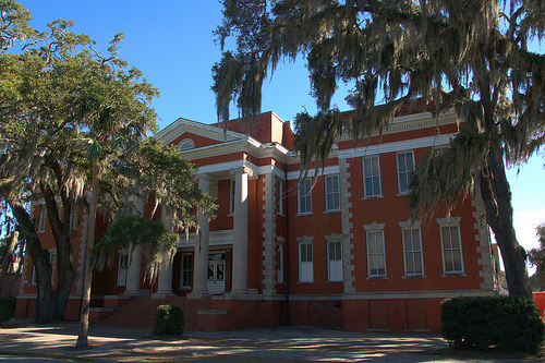 Prep Junior High School Building Glynn Academy Brunswick GA Photograph Copyright Brian Brown Vanishing Coastal Georgia USA 2014