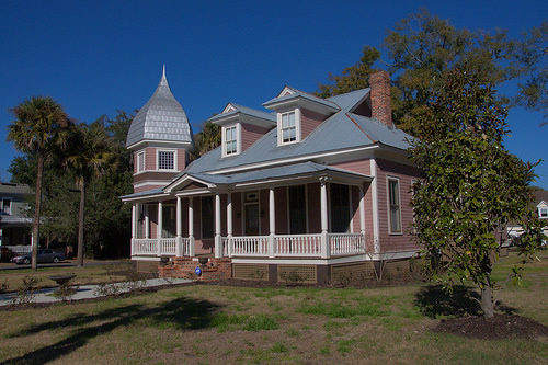 Restored House on Hanover Square Brunswick GA Photograph Copyright Brian Brown Vanishing Coastal Georgia USA 2014