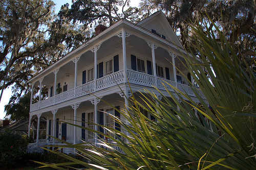 Veranda House 1885 Brunswick GA Photograph Copyright Brian Brown Vanishing Coastal Georgia USA 2014