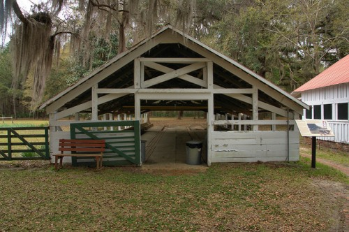 Hofwyl Broadfield Plantation Glynn County GA Dairy Barn Photograph Copyright Brian Brown Vanishing Coastal Georgia USA 2014