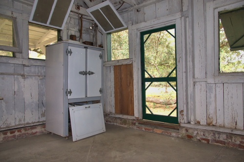 Hofwyl Broadfield Plantation Glynn County GA Dairy Bottling House Gas Refrigerator Photograph Copyright Brian Brown Vanishing Coastal Georgia USA 2014