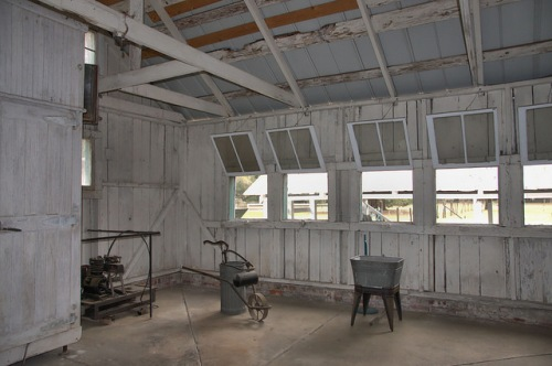 Hofwyl Broadfield Plantation Glynn County GA Dairy Bottling House Interior Photograph Copyright Brian Brown Vanishing Coastal Georgia USA 2014