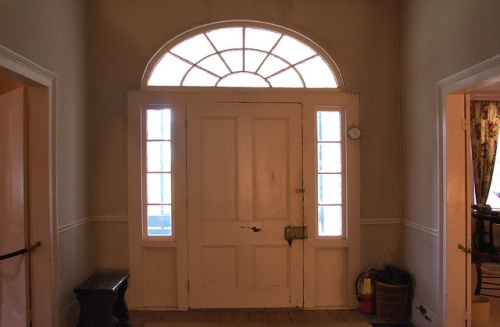 Hofwyl Broadfield Plantation Glynn County GA Entryway Door Doorway Fanlight Palladian Photograph Copyright Brian Brown Vanishing Coastal Georgia USA 2014