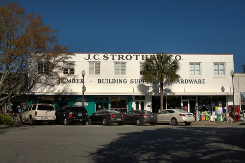 J C Strother Hardware Company The Village Downtown St Simons Island GA Glynn County Photograph Copyright Brian Brown Vanishing Coastal Georgia USA 2014