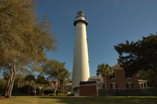 St. SImons Island Lighthouse Light GA Photograph Copyright Brian Brown Vanishing Coastal Georgia USA 2014